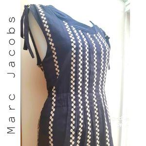 Marc Jacobs Blue Cotton Floral Dress M